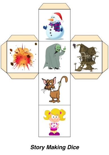 Creating Story Making Dice Using Images