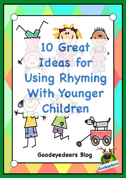 A blog post from Goodeyedeers exploring rhyming with younger children